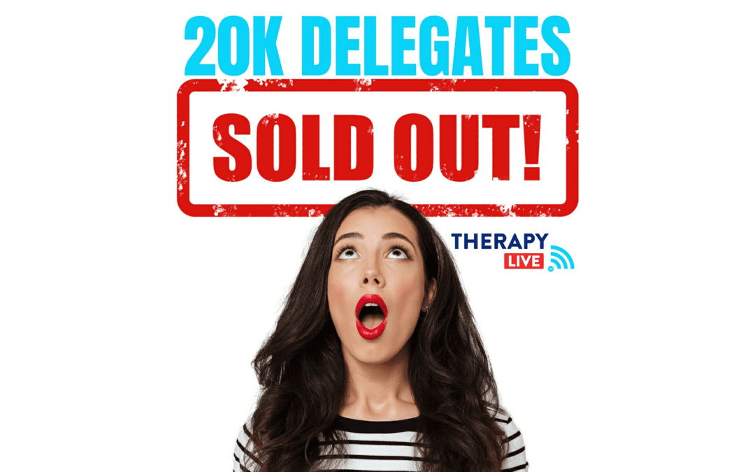 Therapy Live hits 20,000 registrations!