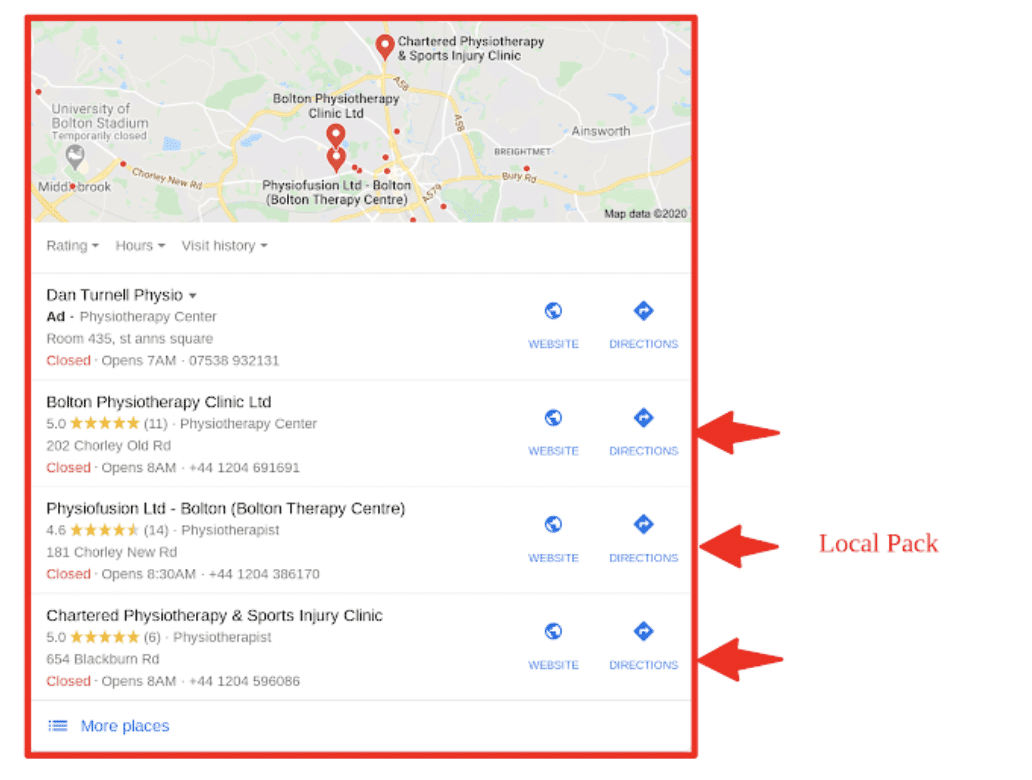 summit googlemybussiness local pack