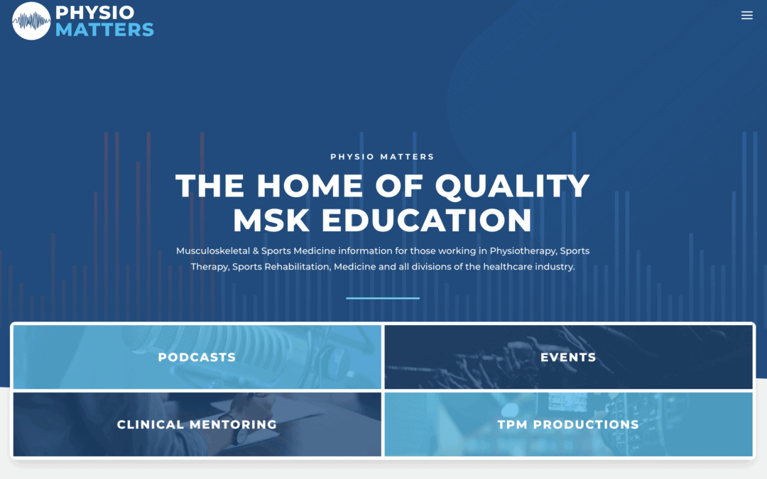 Our latest project, the new Physio Matters Podcast website is live!